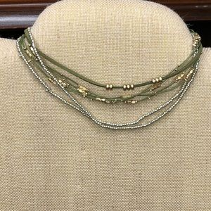 Jewelry - NWT Olive Silver and Gold multi layer choker